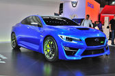 FRANKFURT - SEPT 14: Subaru WRX Concept presented as world premi — Stock Photo