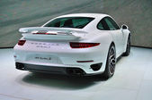 FRANKFURT - SEPT 14: Porsche 911 Turbo S presented as world prem — Stock Photo