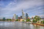 Wolkenkrabbers in frankurt, hessen, duitsland — Stockfoto