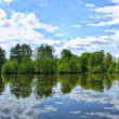Fuldriver in Aueweiher Park in Fulda, Hessen, Germany (panora — Stock Photo #32100749