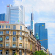 Stock Photo: Skyscrapers of Deutsche Bahn and Commerz Bank, Frankfurt am Main