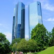 Stock Photo: Deutsche Bank Skyscrapers, Frankfurt am Main, Hessen, Germany