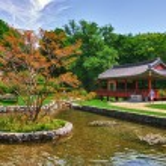 Korean Garden in the Uni Campus Westend, Frankfurt am Main, Hess — Stock Photo #32101329