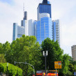 Skyscrapers, Frankfurt am Main, Hessen, Germany — Foto de Stock