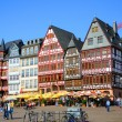 Romerberg (Romerplatz) with old buildings, Frankfurt am Main, He — Stock Photo