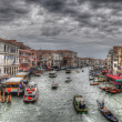 Grand Canal in Venice with ancient hoses, boats, gandolas and sh — Stock Photo
