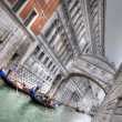 Doge's Palace and Canal with Gandolas, Venice, Italy (HDR) — Stock Photo