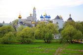 Lavra (Trinity Sergiev Monastery) front view, Sergiev Posad, Mos — Stock Photo