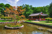 Korean Garden in the Uni Campus Westend, Frankfurt am Main, Hess — Stock Photo