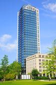 摩天大楼,河畔法兰克福 hessen 德国 — 图库照片