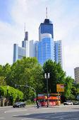Skyscrapers, Frankfurt am Main, Hessen, Germany — Stock Photo