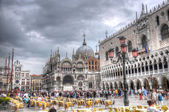 Doge's Palace and Piazza San Marco, Venice, Italy (HDR) — Stock Photo