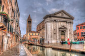 Canal in Venice with Ca' Rezzonico Palace, Venice, Italy (HDR) — Stock Photo