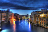 Night Canal in Venice with beautiful lights, Venice, Italy — Stock Photo