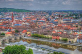 View to Wurzburg from Marienberg Fortress (Castle), Wurzburg, Ba — Stock Photo