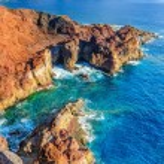 Rocks on North-west coast of Tenerife near Punto Teno Lighthouse — Stock Photo