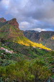 Sunset in North-West mountains of Tenerife near Masca village, C — 图库照片