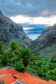 View from Masca village to the canyon and mountains, Tenerife, C — Stock Photo