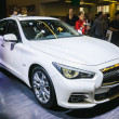 图库照片: FRANKFURT - SEPT 21: INIFINITY Q50 presented as world premiere a
