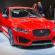 Stock Photo: FRANKFURT - SEPT 21: JAGUAR XJ presented as world premiere at th