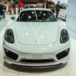 Постер, плакат: FRANKFURT SEPT 21: Porsche Cayman Techart presented as world p
