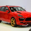 Stock Photo: FRANKFURT - SEPT 21: Porsche Cayenne Magnum Gold Edition (Techar