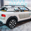 FRANKFURT - SEPT 21: Citroen Cactus Cline Concept presented as world premiere at the 65th IAA (Internationale Automobil Ausstellung) on September 21, 2013 in Frankfurt, Germany — Stock Photo
