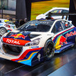 Stockfoto: FRANKFURT - SEPT 21: Peugeot 208 T16 presented as world premiere