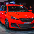 Photo: FRANKFURT - SEPT 21: PEUGEOUT 308R presented as world premiere a