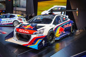 FRANKFURT - SEPT 21: Peugeot 208 T16 presented as world premiere — Stock Photo