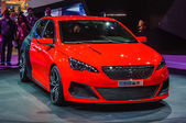 FRANKFURT - SEPT 21: PEUGEOUT 308R presented as world premiere a — Foto de Stock