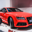 图库照片: FRANKFURT - SEPT 21: AUDI RS7 presented as world premiere at the