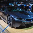 图库照片: FRANKFURT - SEPT 21: BMW i8 presented as world premiere at 6