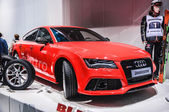 FRANKFURT - SEPT 21: AUDI RS7 presented as world premiere at the — Stock Photo