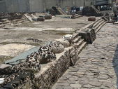 Quetzalcoatl deity in the Templo Mayor — Stock Photo
