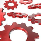 Gears Background Red — Stock Photo