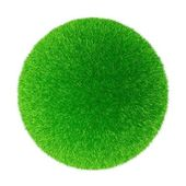 Sphere from a grass — Stock Photo