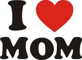 I Love Mom — Stock Vector