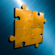 Stock Photo: Puzzle Backgroung