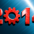 2014 Industry Year — Stock Photo
