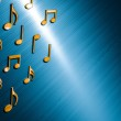 Abstract music notes design for music background use — Stock Photo