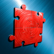 Stock Photo: Puzzle Backgroung Red - Blue
