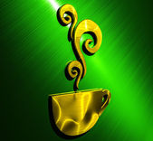 Cup Background gold - green — Stock Photo
