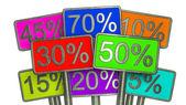 Sada bannerů obchodní prodej — Stock fotografie
