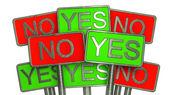 YES vs NO — Stock Photo