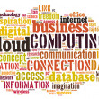 Cloud computing pictogram on white background — стоковое фото #19124831