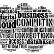 Stock Photo: Cloud computing pictogram on white background