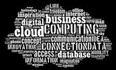 Cloud computing pictogram on black background — Stock Photo
