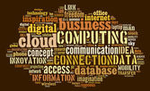 Cloud computing pictogram on brown background — Stock Photo