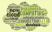 Cloud computing pictogram on green background — Stock Photo